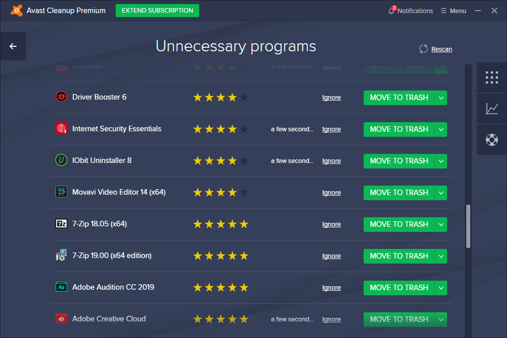 Avast Cleanup Premium Unnecessary Programs