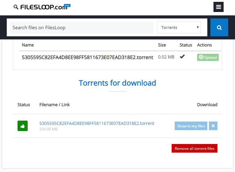 FilesLoop online torrent website