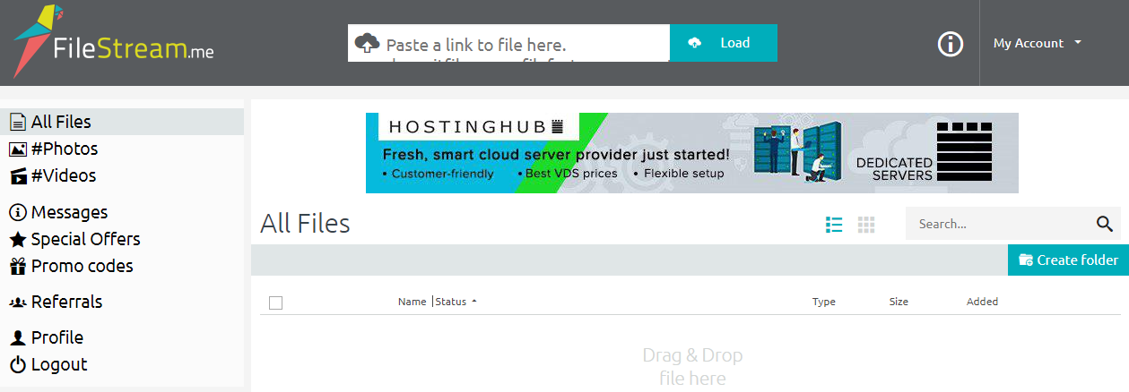FileStream.me online torrent client
