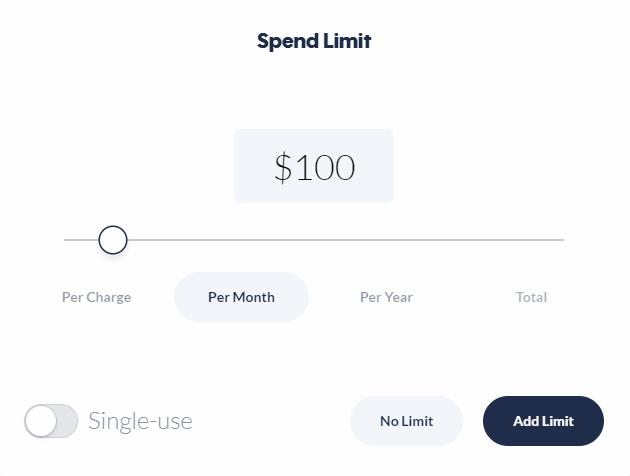 Privacy.com virtual card spending limit