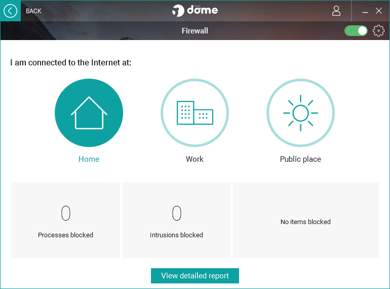 Panda Dome Essential firewall