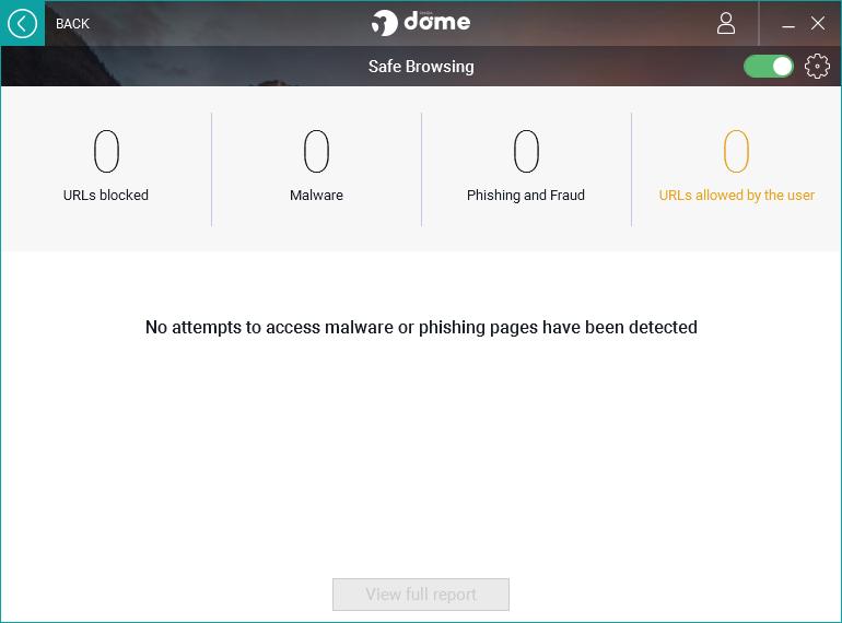Panda Dome Essential Safe Browsing screen