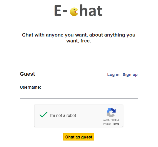 Anonymous chat site E-Chat