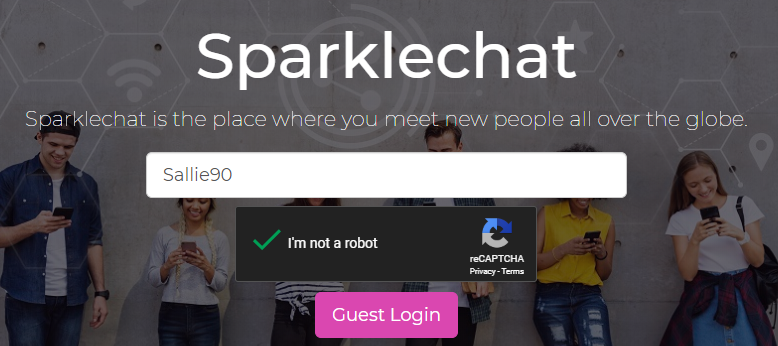 Anonymous chat site Sparkle Chat