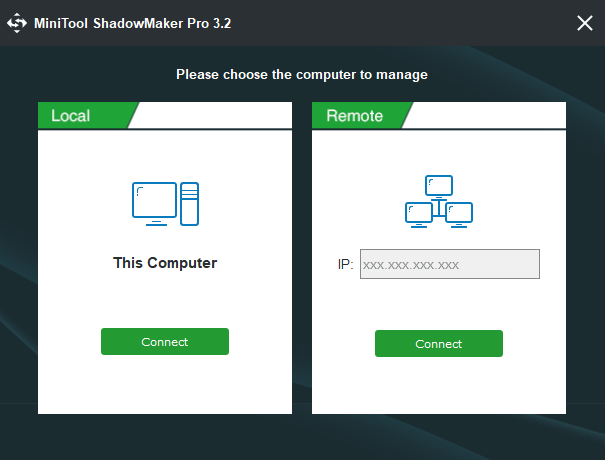 MiniTool ShadowMaker Pro start screen