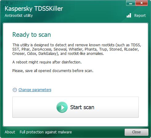 Kaspersky TDSSKiller portable virus scanner