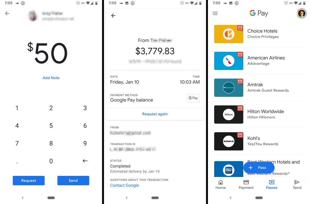 Google Pay money sending app for Android