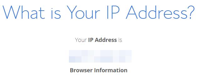 Bluehost IP finder website