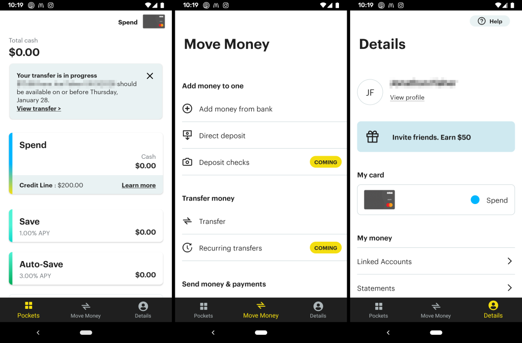 One banking app for Android